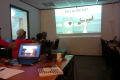 Students enjoying Multi-media language Lab